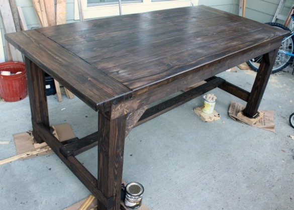 Farm table woodworking plans plans free download for Farm table woodworking plans